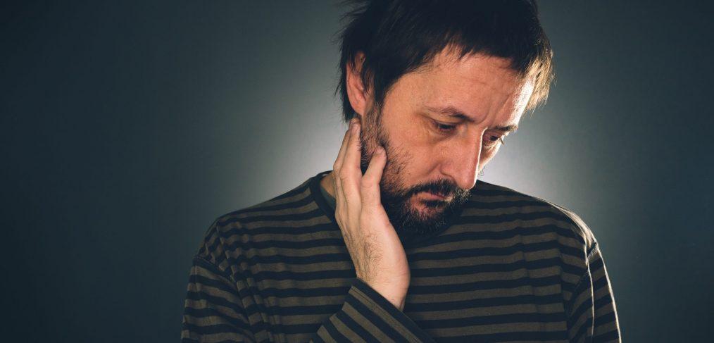 depressed suicidal man thinking